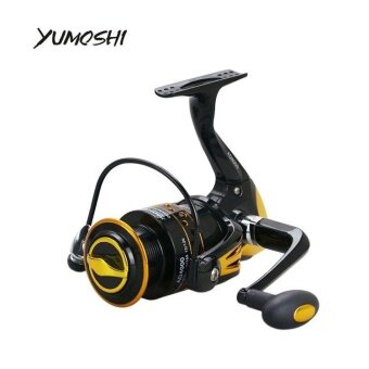 (Size:2000) YUMOSHI Metal Main Body Fishing Reel AD 12+1 BallBearings Spinning Reel 5.5:1 Gear Ratio High Speed Fishing Wheel -intl