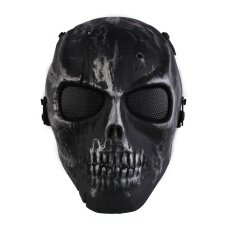 Skull Skeleton Airsoft Paintball War Game Full Face Protection Mask Guard - intl