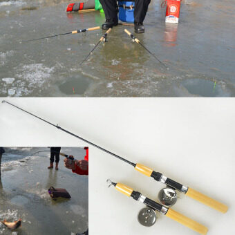 Small Ice Fishing Rod Pole Mini Rods Fishing Tackle valve PoleSporting Goods