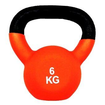 SPORTLAND ดัมเบล Neoprene Dumbbell Kettlebel 6 kg. (Orange)