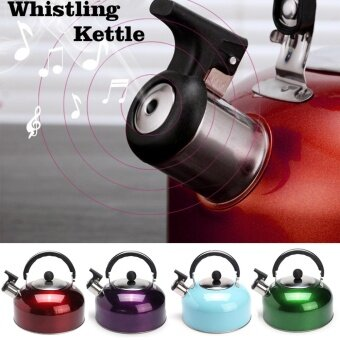 Stainless Steel Whistling Tea Coffee Kettle for Boat Camping Fishing Kitchen Gas - intl
