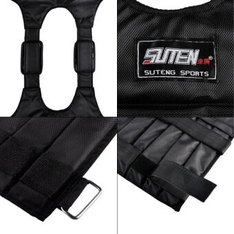 SUTENG 20kg Weighted Vest With Sholder Pads Comfortable WeightJacket Adjustable Sanda Exercise Boxing Sand Clothing (Empty) - 5