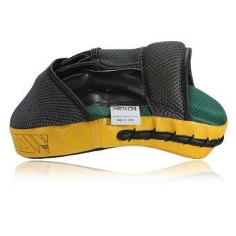 Harga Target MMA Boxing Mitt Focus Punch Pad Training Glove Karate MuayThai Kick New Yellow