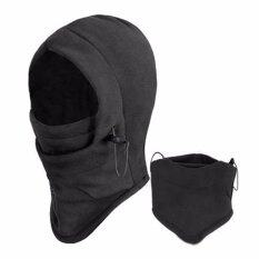 Thicken Warm Fleece Mask Breathable Balaclavas Full Face Cover Hat Headgear Winter Ski Riding Hat Cap(Black) - intl