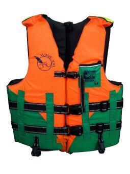 2561 Travel Mart เสื้อพยุงตัว/ชูชีพ Size XXL รุ่น WAVE-XXL (สีเขียว+ส้ม)