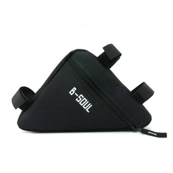 Triangle Cycling Front Tube Frame Pouch Bag Holder Saddle(Black) -intl