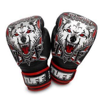 2561 Tuff MuayThai Gloves Wolf Black