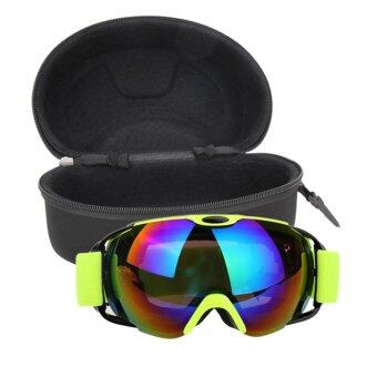 Unisex Double Lens UV400 Anti-fog Ski Snowboard Skiing Glasses withCase - intl