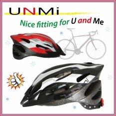 UNMI ปรับได้ หมวกกันน็อกจักรยาน UNM-A94 สีดำ-Size:L/XL