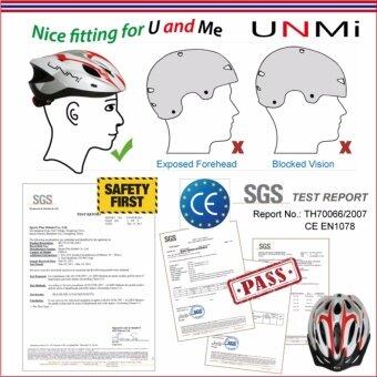 UNMI ปรับได้ หมวกกันน็อกจักรยาน UNM-H71 สีดำ-Size:L/XL - 4