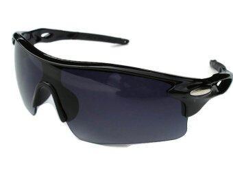แว่นตาจักรยาน กันแสง UV 400 (สีเทา/ดำ) ฟรี ถุงผ้าใส่เเว่น (image 3)