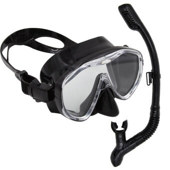 Harga WHALEScuba Diving Snorkeling Freediving Mask Snorkel Set