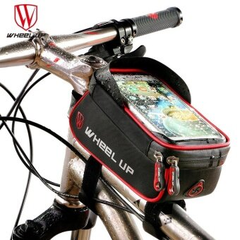 WHEEL UP Rainproof Front Zipper Bike Bag MTB Mountain Cycle TouchScreen Phone Bags Waterproof GPS Cycling Pouch Panniers - intl