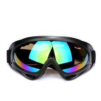 สร้างกีฬากลางแจ้งแว่นตาแว่นตาแว่นตาสกีหิมะ Windproofกันฝุ่นแว่นแว่นหลายสีคนการแข่งขันจักรยานยนต์วิบาก