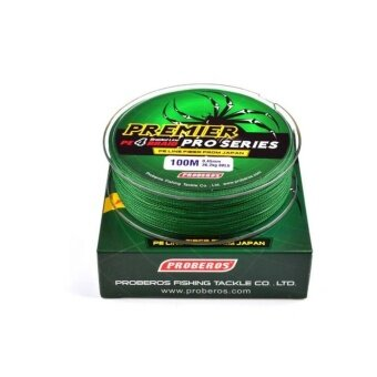 WWang 100M 0.6# 0.12mm Super Strong PE Braided Fishing Line 8LBGreen - intl