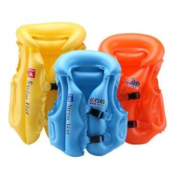 WWang Kids Swimsuit Split Inflatable Swimming Ring Vest ChildrenSwimming Beginners Equipment S Color Random (20kg below) - intl