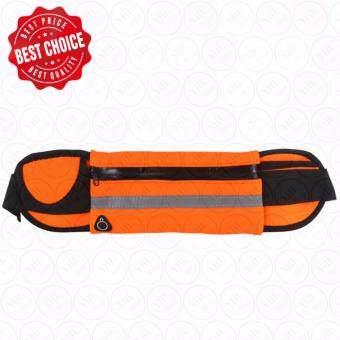 ซื้อ/ขาย YHL กระเป๋าวิ่งแบบคาดเอว กระเป๋ากีฬาแบบคาดเอว กระเป๋าคาดเอว เข็มขัดวิ่ง ใส่โทรศัพท์มือถือกันน้ำได้ Waterproof Sport Running Belt (สีส้ม)
