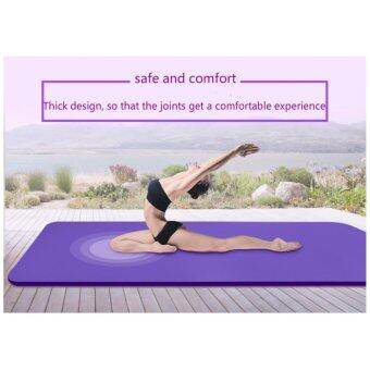 Yoga TPE Mats for Fitness Genuine Slip Yoga Mat 10mm LongerBeginner Thick Yoga Mats - intl