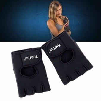 2561 YUEYAN ถุงมือฟิตเนส ถุงมือออกกำลังกาย Fitness Glove Weight Lifting Gloves Black ( Int:S)