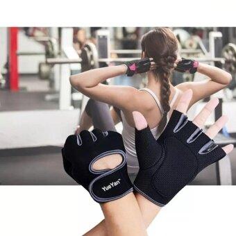 2561 YUEYAN ถุงมือฟิตเนส ถุงมือออกกำลังกาย Fitness Glove Weight Lifting Gloves Gray ( Int:M)
