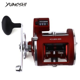 YUMOSHI 12 Ball Bearings High Speed Fishing Reel with ElectricDepth Counting Multiplier - intl