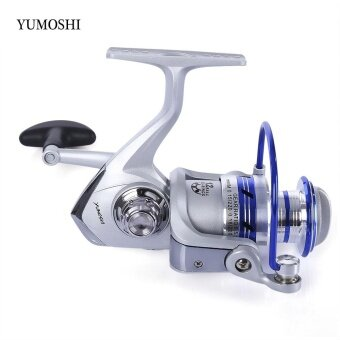 YUMOSHI 12BB Half Metal Spinning Reel Fishing Tackle with Foldable Handle(AL 1000) - intl
