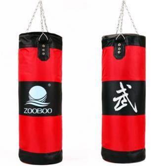 ZOOBOOถุงทรายล้างมวยเจาะถุงทรายห่วงโซ่การปฏิบัติการฝึกอบรมการต่อสู้ (สีแดง )
