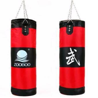 ประเทศไทย ZOOBOO ถุงทรายล้างมวยเจาะถุงทรายห่วงโซ่การปฏิบัติการฝึกอบรมการต่อสู้ ( สีแดง )