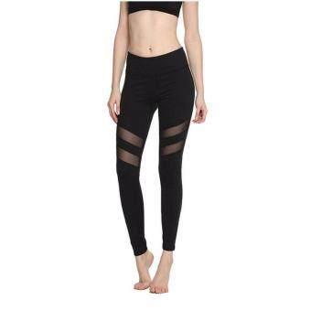 กางเกงขายาว ออกกำลังกาย เล่นโยคะ (สีดำ) - 1 ตัว