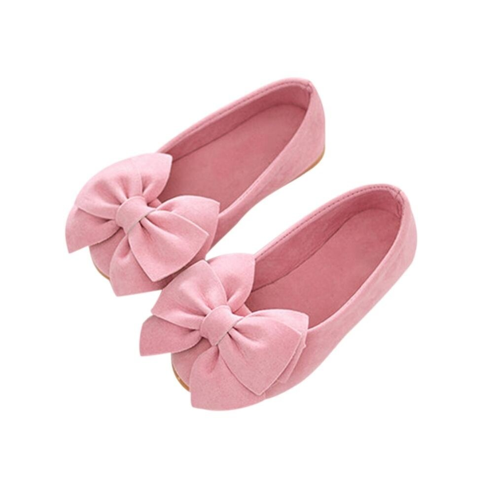 1 Pair Princess Girls Shoes Bow Flat Shoes Toddler Kids Flower Shoes - intl