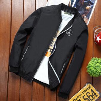 เสื้อแจ็คเก็ตผู้ชายสลิม อินแทรน์ สไตล์เกาหลี ใหม่ 2017 (สีดำ)