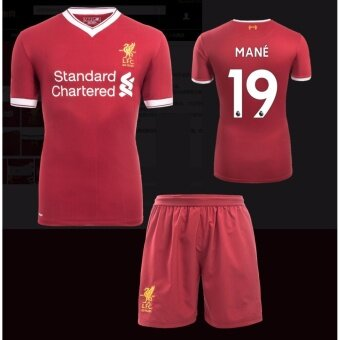 Harga 2017-2018 Liverpool jersey Home Kit Jersey NO.19 MANE footballjersey soccer jersey with original logo&free shorts - intl