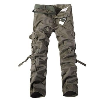 2017 New Casual Men Tactical Cargo Pants Slim multi-pockets MenPants Three colors available Fashion Cargo Pants Hot Sale - intl