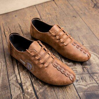 2017 spring new men's Peas Korean fashion leather casual loafers shoes - intl - 2