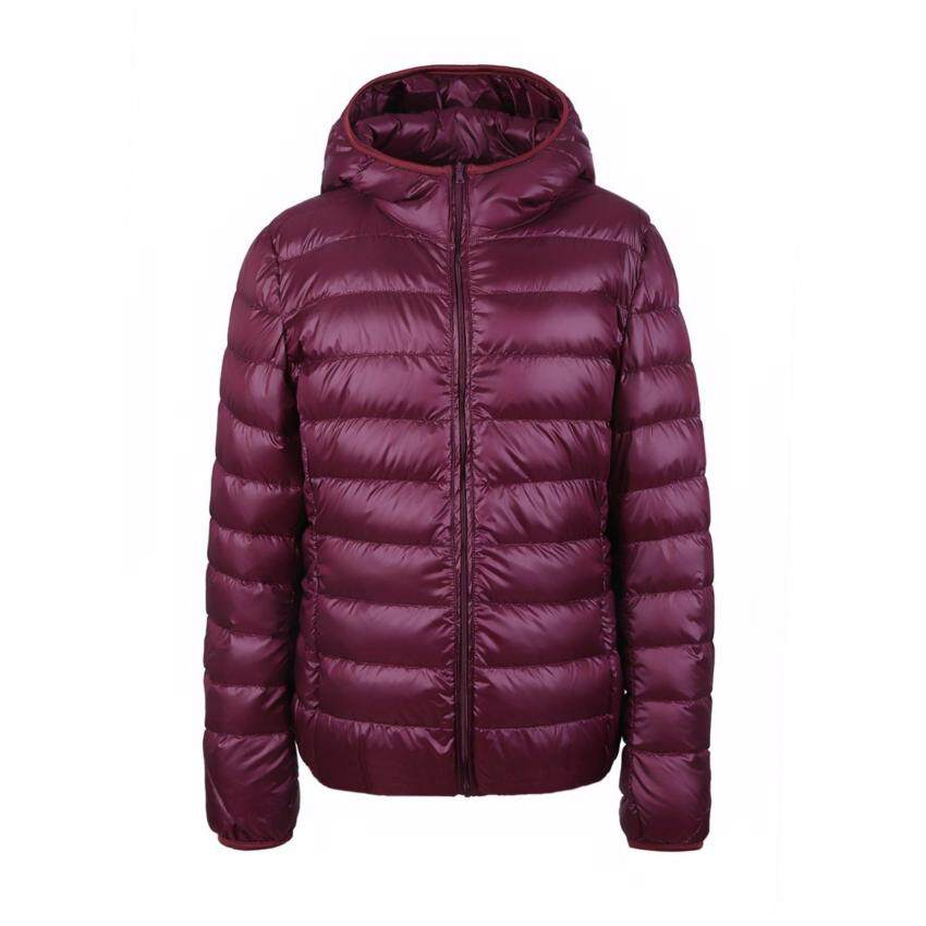 2017 Winter Women Down Jacket Ultra Light Down Snow Coat Hooded 90% White Duck Down Jackets For Women Thin Feather Jacket