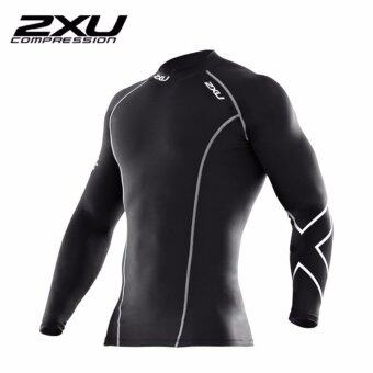 ซื้อ/ขาย 2XU Men s Long Sleeve Compression Top Black/Silver