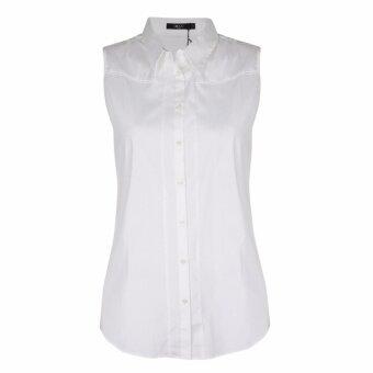 เสื้อเชิ้ตแขนกุด 66247005 สีขาว