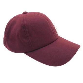 AC: หมวก 3 ห่วง กลัดเข็ม แนวๆ แฟชั่นเกาหลี สไตล์ฮิปเตอร์ ( PurpleColor )