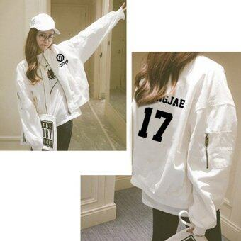 alipop kpop got7 concert album youngjae jacket casual baseball suitwomen loose zipper coat spring and summer sunscreen jacket wy453white intl 1497933812 93769952 780ad19dcfe46d1d27baf27d2dffcdc4 product ขายแล้ว ALIPOP Kpop GOT7 Concert Album YOUNGJAE Jacket Casual Baseball SuitWomen Loose Zipper Coat Spring And Summer Sunscreen Jacket WY453 White