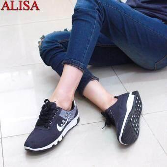 Alisa Shoes รองเท้าผ้าใบแฟชั่น รุ่น B-01 Grey