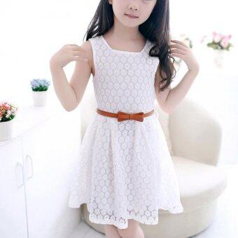Harga Amart Baby Kids Girls Skirt Sleeveless Princess Lace SummerDressClothes New Cute with Belt