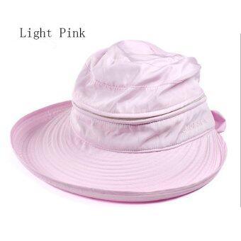 Amart หมวก Cap แฟชั่นซัมเมอร์หาดใหญ่หูกระต่ายหมวกกันแดด สีชมพู)