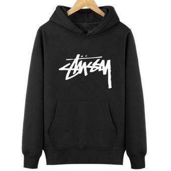 Amart Men Hoodie Hip Hop Hoodies Sweatshirts Hooded Letters PrintedPullover Tops (Black) - intl