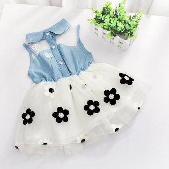 Amart น่ารักกระโปรงผ้าทรงฉลองพระองค์เสื้อ Sun Flowerเสื้อผ้าเด็กหญิงวัย
