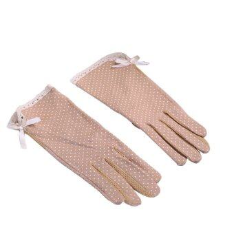 Amart Women UV Protection Cotton Gloves Driving Gloves