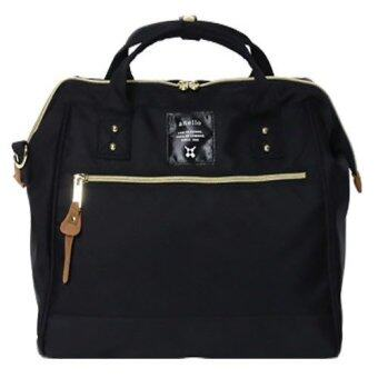 Harga ANELLO Regular Polyester Canvas Boston Bag (Black)