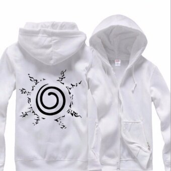 Anime Naruto Uzumaki Otsutsuki Hagoromo Cosplay Hoodies Jacket Coat Costume Cosplay Collection Casual Sweatshirt(White) - intl