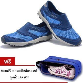 ราคา Aquatwo รองเท้าลุยน้ำ สำหรับผู้ชาย ใส่ดำน้ำ ใส่ลำลอง รุ่น S503 (สีน้ำเงิน) แถมฟรี กระเป๋าเก็บรองเท้า มูลค่า 199 บาท