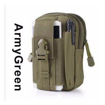 รีวิว กระเป๋าคาดเอว ห้อยหูกางเกง WaistBag-98- Army Green