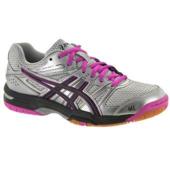 ASICS-GEL-ROCKET 7-SILVER/BLACK/PINKGLOW
